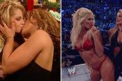 WWE Divas Lesbian Kissess Compilation